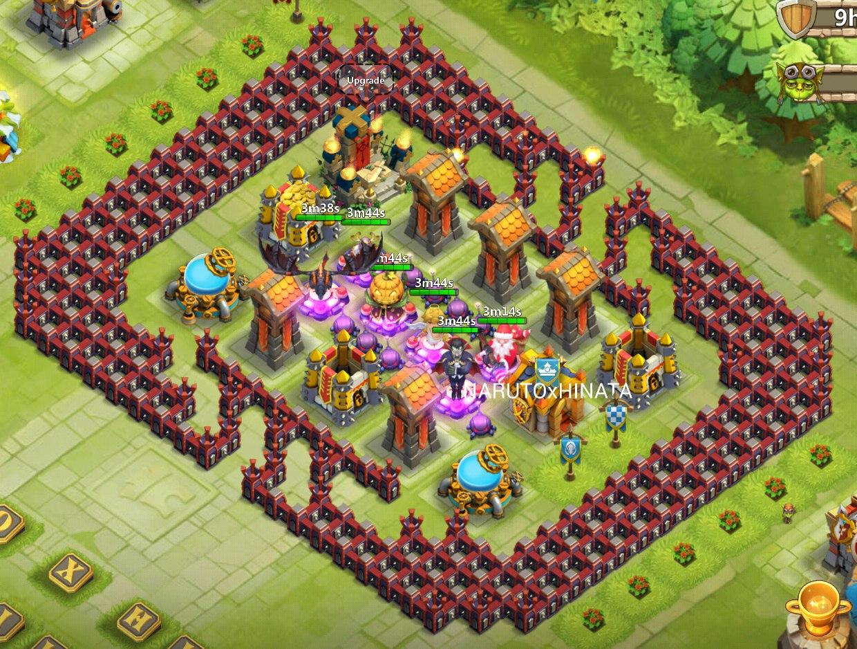 расстановка базы в castle clash ратуша 20 картинки